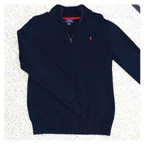 Polo Ralph Lauren 1/4 zip sweater, Navy blue